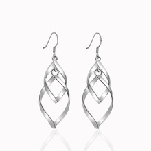 Tassels leaves Silvery/Gold color Dangle Earring for Women Classic ear Jewelry Gift DropShipping