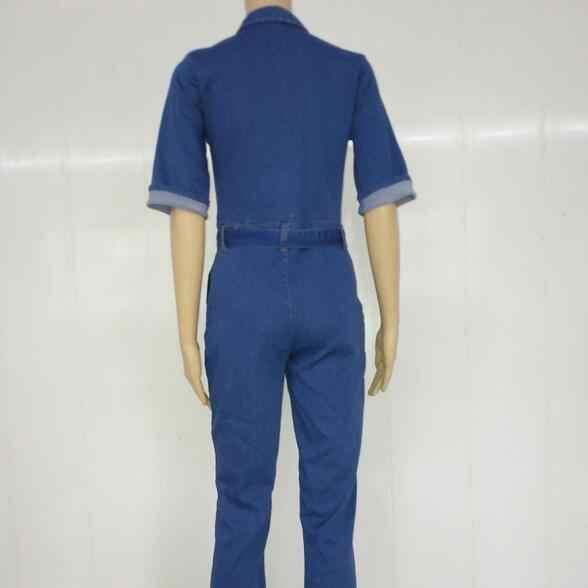 2019 джинсовый дизайн женский длинный комбинезон сексуальный летний вырубленный джинсовый комбинезон сексуальный однотонный синий ночной клуб комбинезон DC630