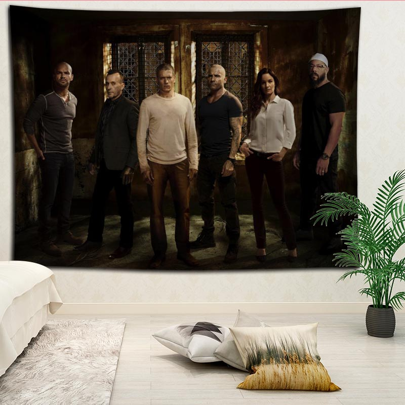 Prison Break wall decor tapestry layout room painting background wall decoration bedcloth tapestries custom logo