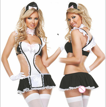2016 women Maid sexy lingerie hot within Temptation costumes babydoll erotic cosplay ST952