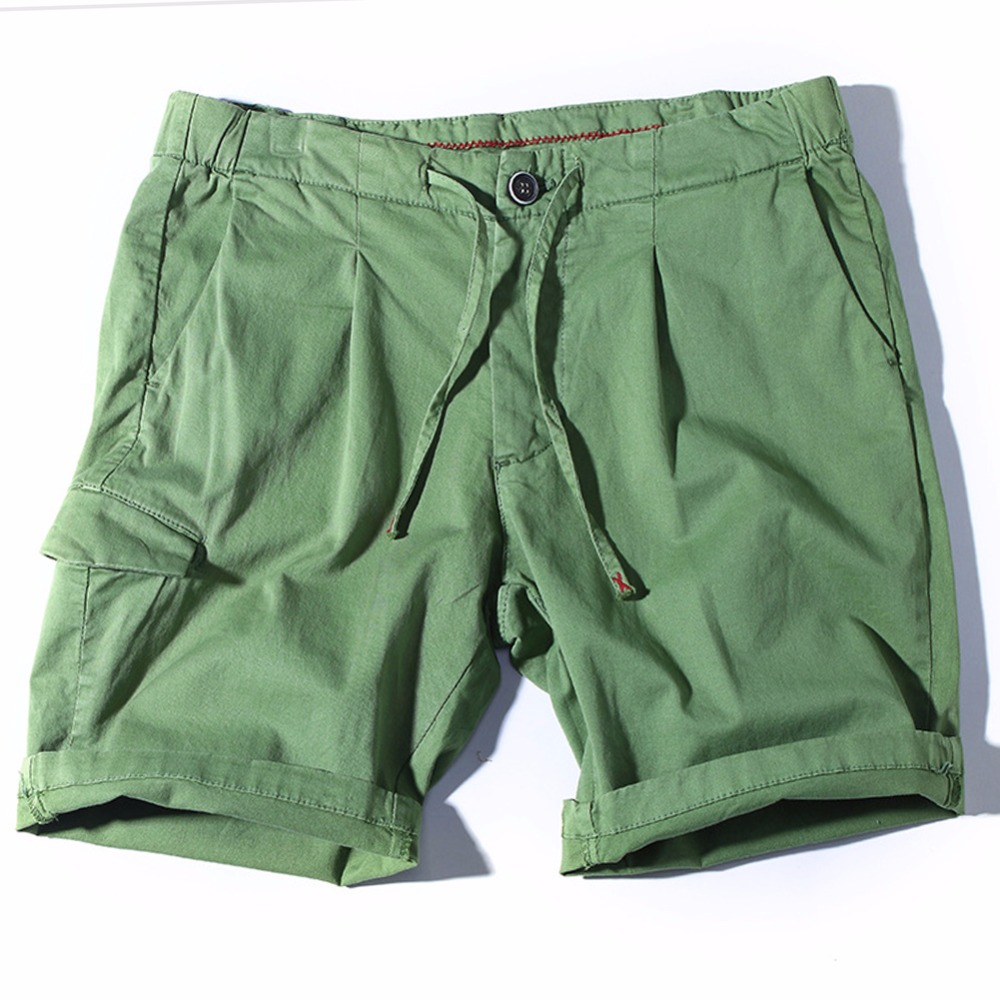 Summer Cargo Shorts Men Cotton Bermuda Masculina Homme solid casual Mens Short Pants Jogger men Clothing Beach Boardshorts