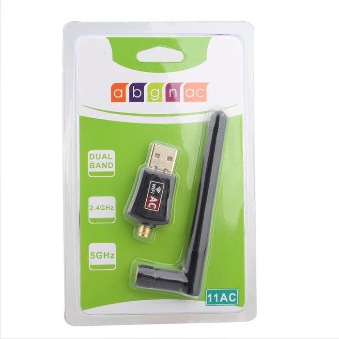 802.11B/G/N/AC Двухдиапазонный 600 Мбит/с RTL8811CU беспроводной USB WiFi адаптер ключ с 2,4G& 5,8G внешняя антенна WiFi для Android
