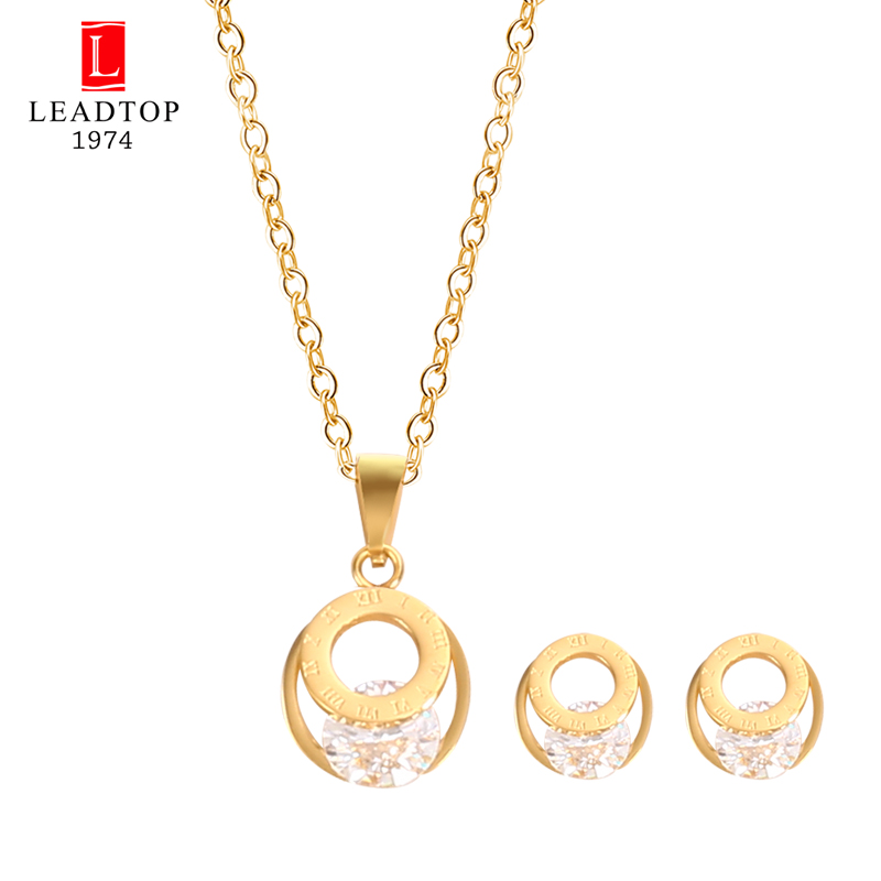 Leadtop1974 Rhinestone Women Rhinestone Roman Number Sign Ring Jewelry Sets