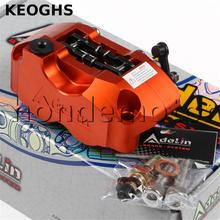 Buy online KEOGHS Adelin adl01 Motorcycle Brake Caliper 4 Piston cnc aluminum disk brake system for motorbike modification FOR YAMAHA