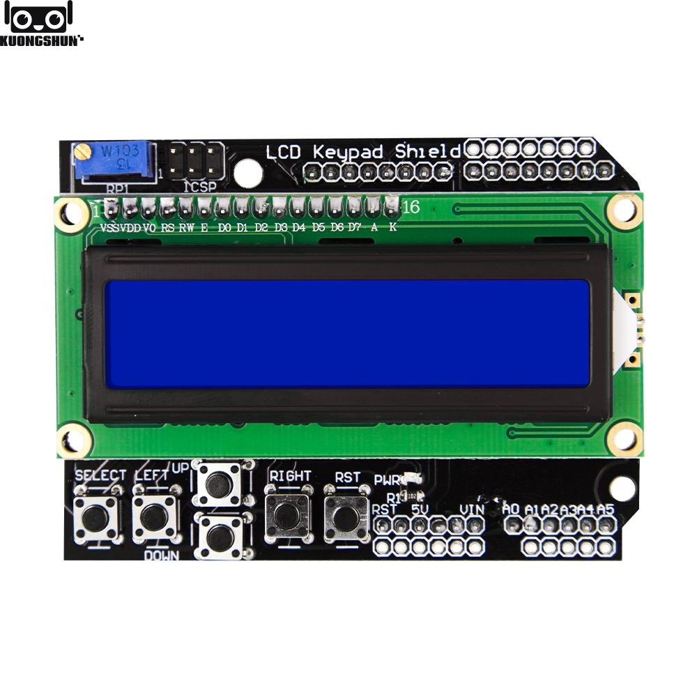 1602 LCD LCD1602 Keypad Board Shield Blue Backlight For Arduino Mega2560 UNO R3