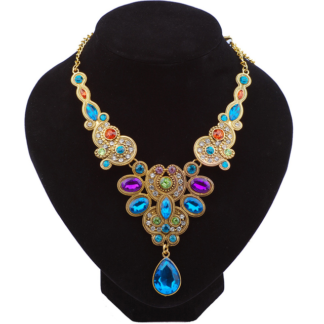 Multicolored rhinestone chain necklaces pendants luxury brand multicolored rhinestone chain necklaces pendants luxury brand costume jewelry mother daughter necklace women accessories sales aloadofball Choice Image