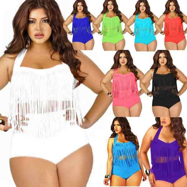 free shipping best selling plus size swimsuit tassel bra woman