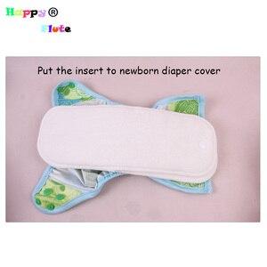 Image 4 - وحدة إدخال لحديثي الولادة من HappyFlute مصنوعة من ألياف الخيزران قابلة لإعادة الاستخدام قابلة للغسل 10 قطع pcak شحن مجاني