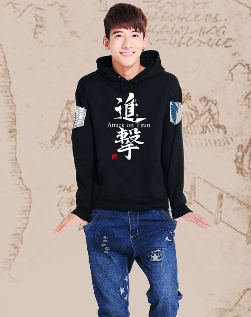 Attack on Titan Black Scouting Legion Hooded Sweater