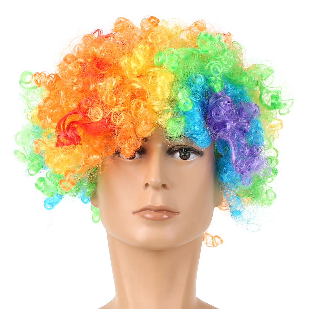 Soccer Fans Wig Explosion Curly Hairpiece Party Decoration Carnival Headwear Wigs Soccer Accessories Football Hair Wigs