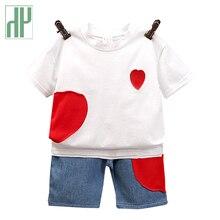 купить Kids clothes boys Casual Short Sleeve Tops T-shirt+Pants Letters Printed Children Clothing toddler Boy Sports Suit 2 4 6 Years по цене 650.01 рублей