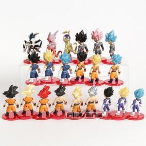 Image 5 - Dragon Ball Z Super Saiyan Son Goku  Gohan Vegeta Vegetto Syn Shenron Freeza Janemba Mini PVC Figures Toys 21pcs/set