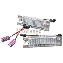 2Pcs 24 LED Number License Plate Light For Audi TT Q5 A4 A5 S5 For VW/Passat R36 2008 No Error Xenon White 12V 5W все цены