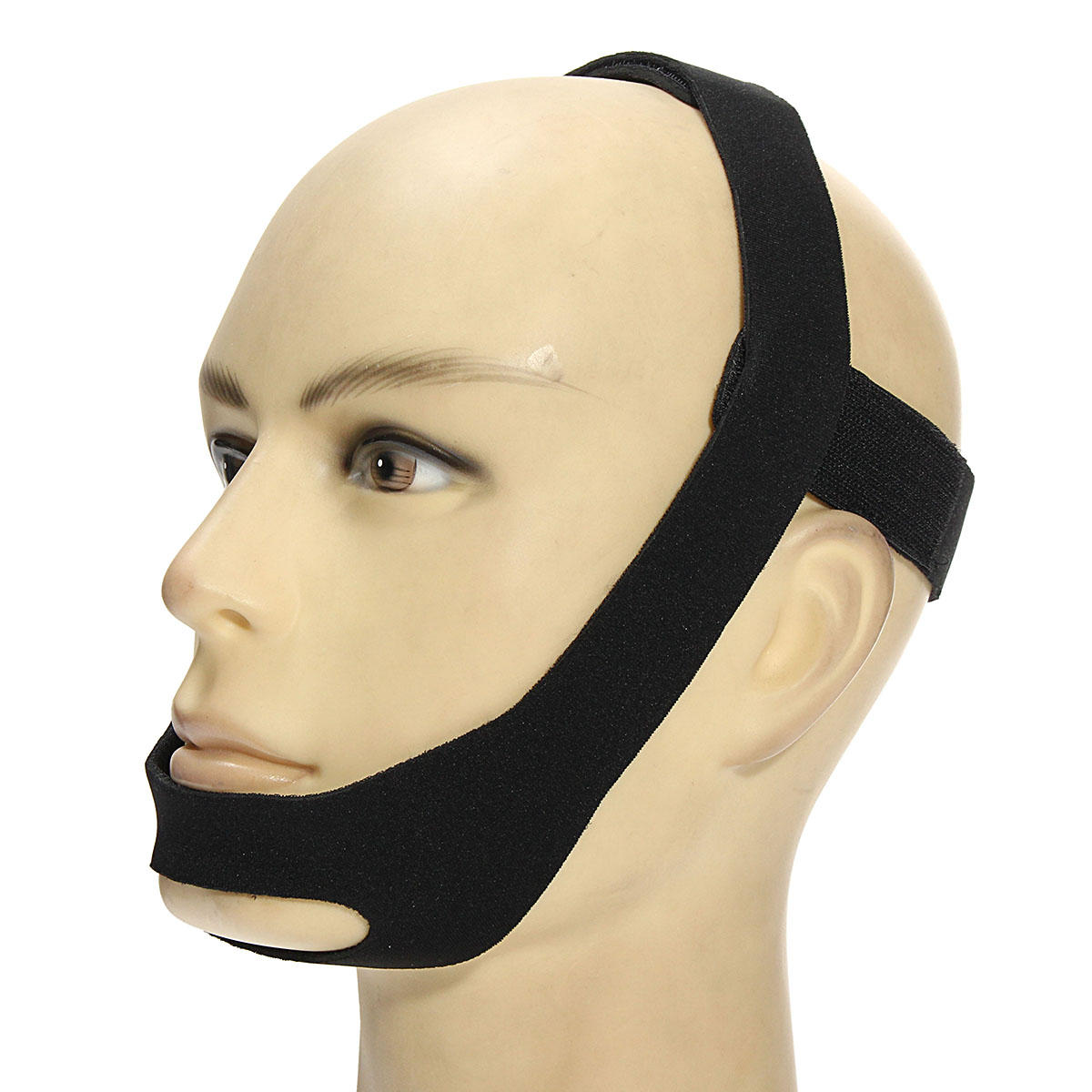 Anti Snoring Chin Straps Mouth Guard Elastic Stop Bruxism Nose Snoring Solutions Breathing Snore Stopper for Sleeping