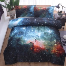 YLM 3pcs 200x230cm Bed Cover For Home Hotel Rectangle Comfortable Case Starry Sky Bedding Bedspread Soft