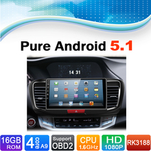 Pure Android 5.1.1 System Car DVD Player Auto Radio Autoradio Car Media Stereo for Honda Accord 2013 2014 2015