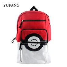 Pokemon Cartoon Teenager's Nylon Backpack For Boys Girls Pokeball Children School Backpacks Rucksack Should Bag Kid Gift Bag
