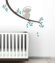 Simple Monkey Tree Branch Wall Sticker Removable DIY Kids Nursery Bedroom Decor Decal on Poster NY-203