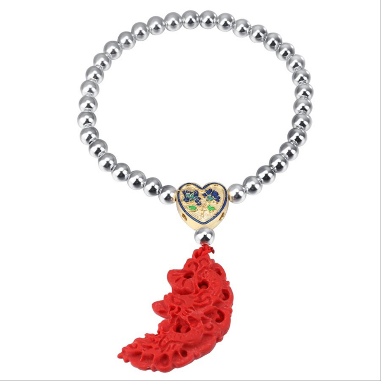 ZTUNG GBP1 Red stone Europe and America new Bracelet fashion jewelry Bangles silver bracelet for lover