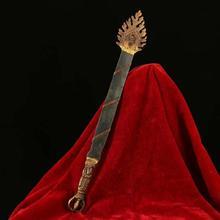 From Tibetan temple, handmade black iron Manjusri sword, Guard house, exorcise evil spirits auspicious greattool sword sword greetings from