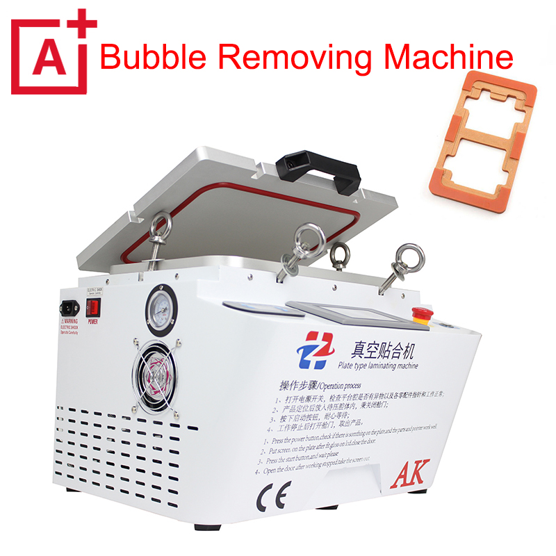 New 12inch AK 5 in 1 LCD OCA Vacuum Laminating Machine NO bubble Automatic oca Laminator Machine For Iphone LCD Refurbish Repair 5pcs lot oca vacuum laminating machine pressure screen bubble film bubble sponge rubber pad universal mould 260 200mm
