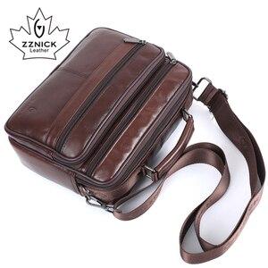Image 4 - ZZNICK Men messenger bags luxury genuine leather men bag designer high quality shoulder bag casual zipper office bags for men
