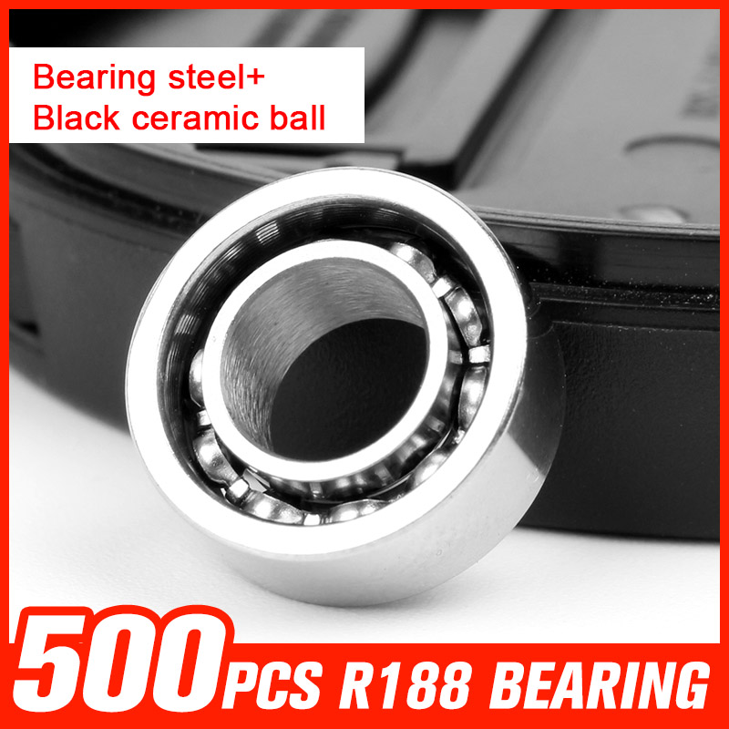 500pcs R188 Bearing Steel Ceramic Ball Bearings for Fidget Toys Pattern Hand Spinner Metal Fidget Spinner Tool Accessories tri fidget hand spinner triangle metal finger focus toy adhd autism kids adult toys finger spinner toys gags