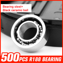 500pcs R188 Bearing Steel Ceramic Ball Bearings for Fidget Toys Pattern Hand Spinner Metal Fidget Spinner Tool Accessories
