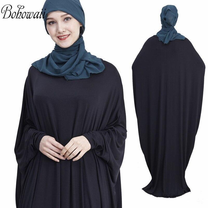 BOHOWAII Women's Prayer Garment Muslim Islamic Ramadan Prayer Dress Soft Abaya Robe De Priere Femme