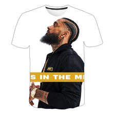 The Great Nipsey Printed Men T Shirt 2019 Hip Hop White Tshirt Harajuku Streetwear Rapper Lil Peep Hussle Clothes