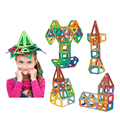 108PCS Mini Magnetic Building Blocks Creative Toys DIY Magnetic Designer Plastic Creative Bricks  Educational  Magnetic Blocks