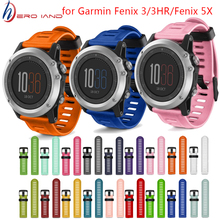 Hot Replacement Silicone Watchbands Sport Silicone wrist Strap for Garmin Fenix 3 /Fenix 3 HR GPS Watch With Tools for Fenix 5X 2018 watchbands 27mm soft silicone replacement watch band with tools for garmin fenix 3 new design fashion sports watch straps