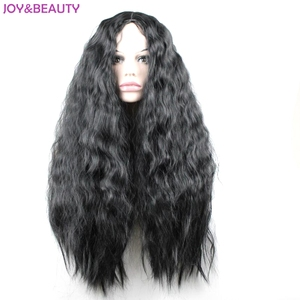 """Image 3 - JOY&BEAUTY 24"""" Long Synthetic High Temperature Fiber Hair Long Curly Wig Black/Brown Mix Women Cosplay Wig"""