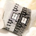 Chegada nova Famosa Marca Mulheres Preto Piano Branco Relógio de Senhora Relógio Pulseira de Strass Pulseira de Cristal Cheio de Jóias com Diamantes de Luxo