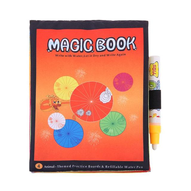 Seasons Theme Magic Coloring Water Drawing Books With Magic Pen