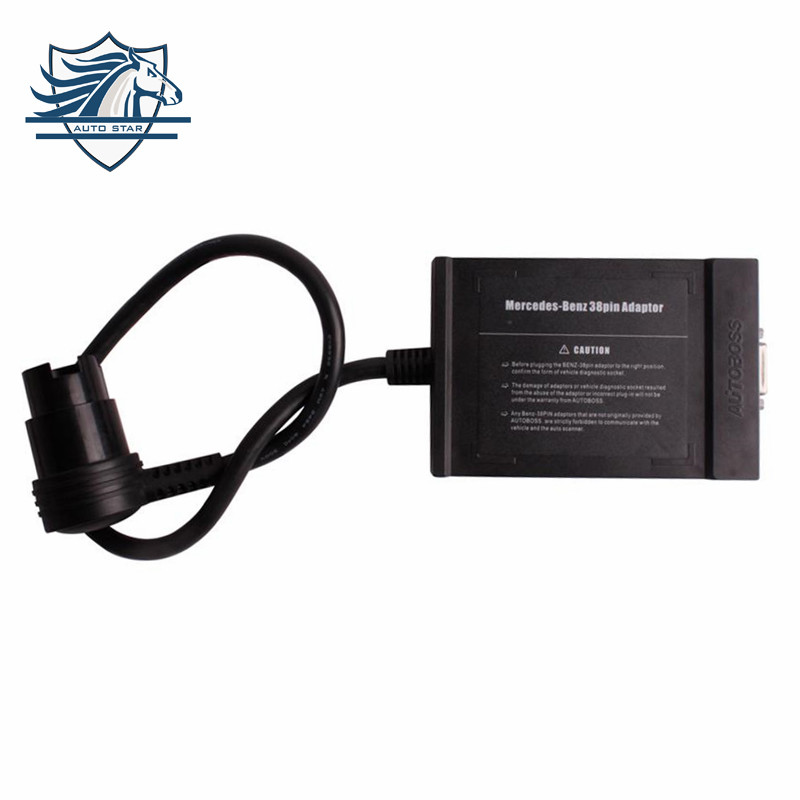 Hot Sale original Professional for BENZ 38pin Adapter For VCS Scanner/Autoboss PC MAX/Autoboss V30