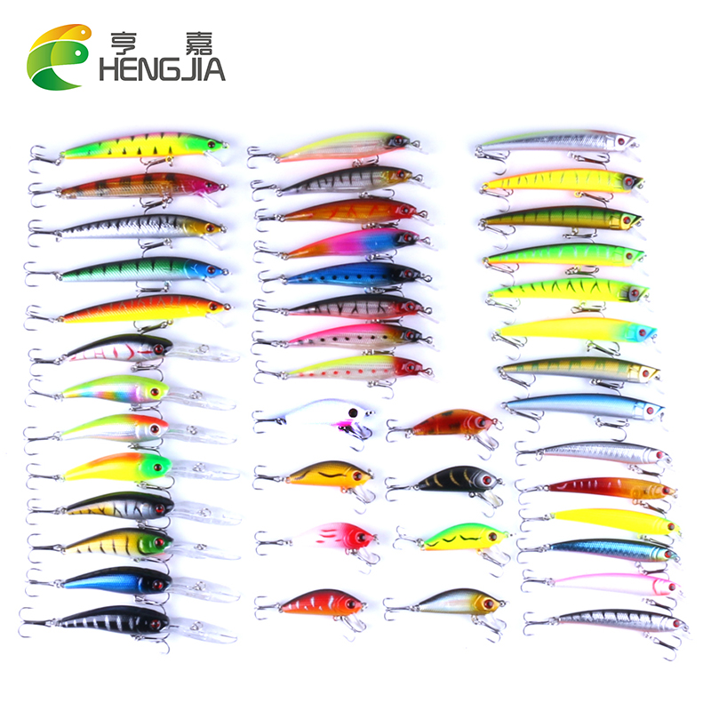 43pcs/lot Hard Minnow China Fly Fishing Lure Set Hard Bait Lure Wobbler Carp 6 Models Fishing Tackle Accessories Swimbait sealurer fishing lure minnow hard bait pesca floating wobbler 8cm 7 5g isca carp crankbait jerkbait 5colors 1pcs lot