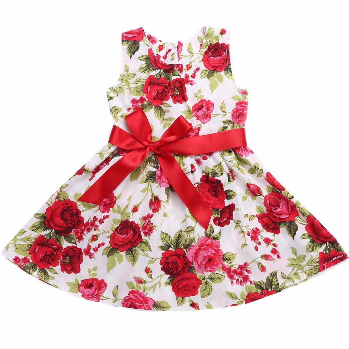 Детские Платья с цветочным рисунком для маленьких девочек; свадебное платье принцессы для девочек 1 год; платье для дня рождения; Хлопок; лето 2017; vestido infantil