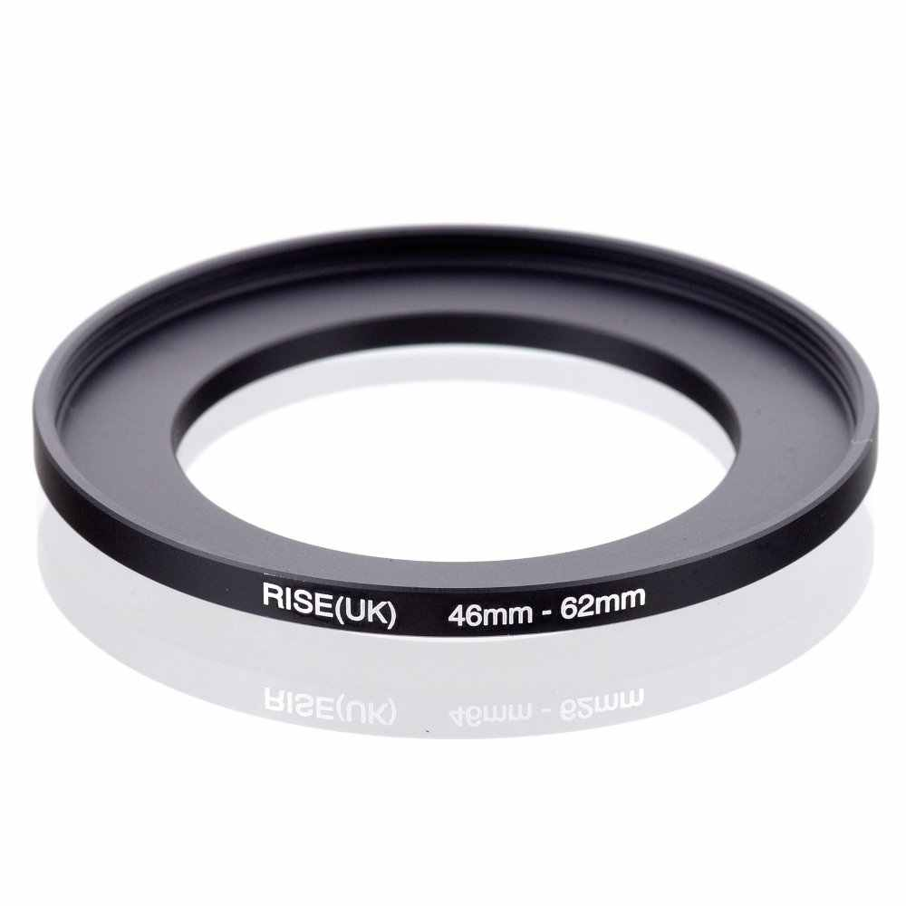 Originele RISE (UK) 46mm-62mm 46-62mm 46 te 62 Step Up Ring Filter Adapter black