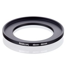 original RISE(UK) 46mm 62mm 46 62mm 46 to 62 Step Up Ring Filter Adapter black
