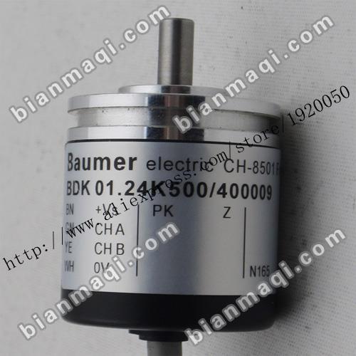 Spot  Baumer BDK 01.24K500 / 400009 Solid Shaft Rotary Encoder 500 Pulses