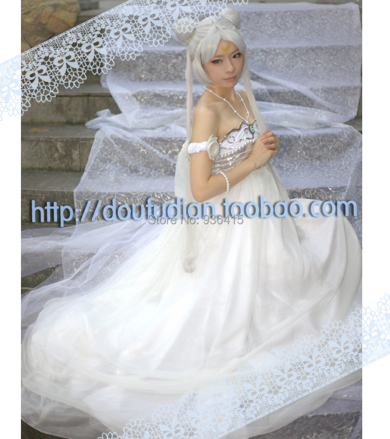 Free shipping! Sailor Moon Princess Serenity Tsukino Usagi Dress wig ...