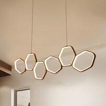 LICAN lampadario moderno LED תליון לבר מטבחים משרד כבל השעיה אלומיניום מעגל טבעות LED תליון מנורה