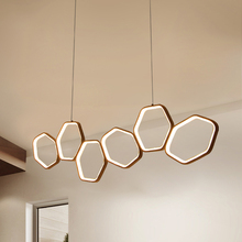 Светодиодные подвесные светильники LICAN, люстра для бара, кухни, офиса, подвесной шнур, алюминиевые круглые кольца светодиодный Подвесная лампа