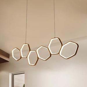 Image 1 - Lican Lampadario Moderno Led Hanglampen Voor Bar Keukens Kantoor Schorsing Cord Aluminium Cirkel Ringen Led Hanglamp