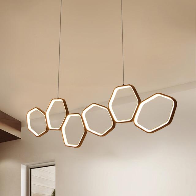 Lican Lampadario Moderno Led Hanglampen Voor Bar Keukens Kantoor Schorsing Cord Aluminium Cirkel Ringen Led Hanglamp