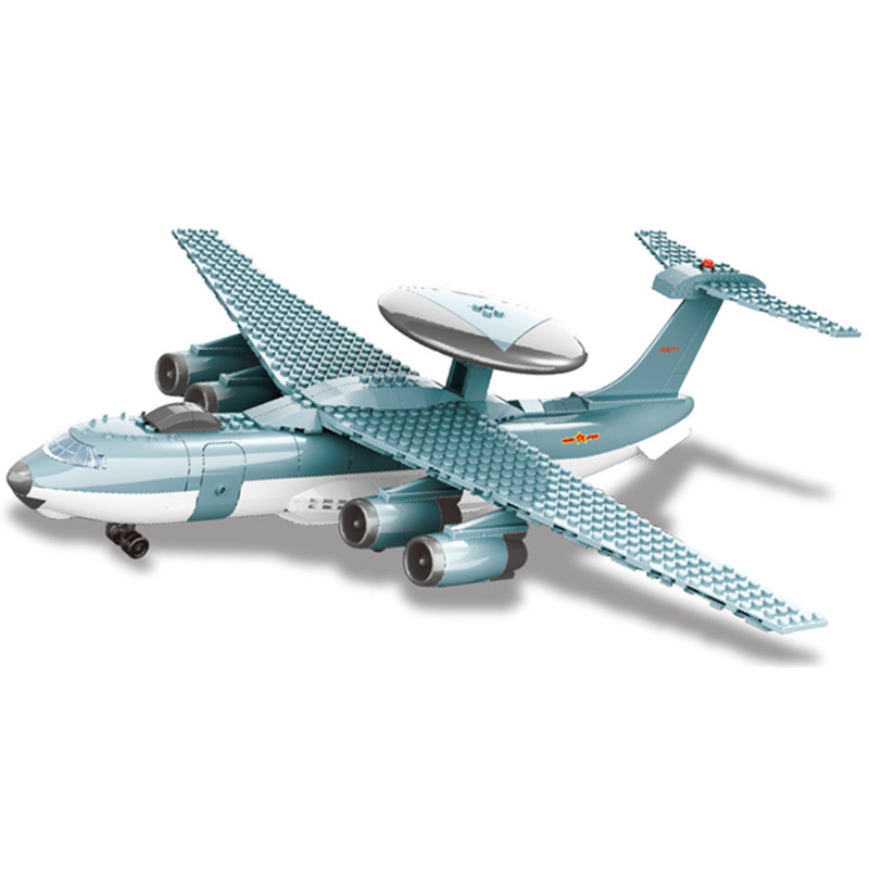JX004 229Pcs Military series Early warning aircraft Model Building Blocks Set Bricks Toys For Children Gift wange lepin decool 3105 130pcs deformation series super aircraft model building blocks bricks toys for children wange gift
