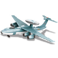 JX004 229Pcs Military series Early warning aircraft Model Building Blocks Set Bricks Toys For Children Gift wange