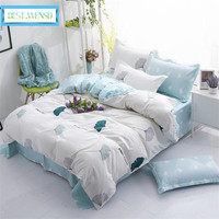 BEST.WENSD 2018 Hotel home winter High grade Simple style Bedding Set luxury duvet Cover sets Ginkgo leaf beddings and bed sets