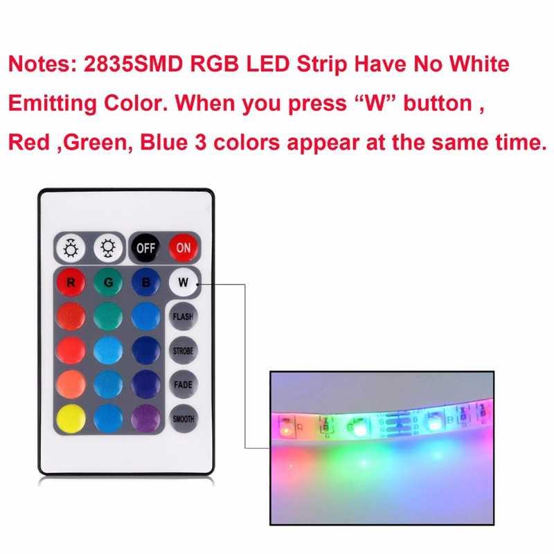 Dekorasi Natal Lampu LED Tape untuk TV Pencahayaan Latar Belakang Liburan Pencahayaan Kabel USB Power LED Strip Fleksibel Controller